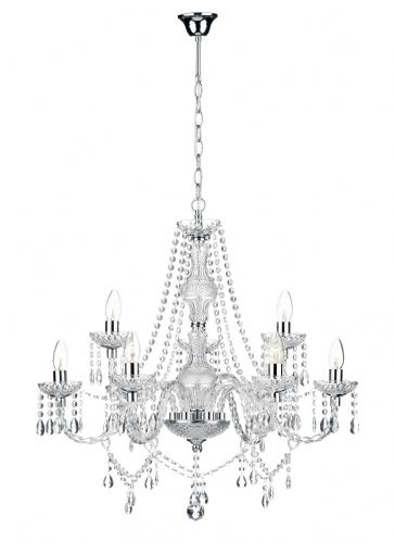 Katie 9-light Polished Chrome Chandelier Ceiling Light (826286) (Double Insulated) BXKAT1350-17